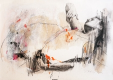 Figure No. 3, charcoal and oil on paper, 50x70 cm