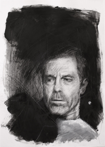 OHAD, charcoal and oil on paper, 50x35 cm