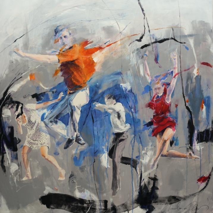 FREEDOM, acrylic on canvas, 100x100cm