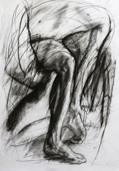 SINNERMAN, charcoal on paper, 100x70 cm