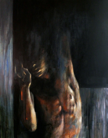 Darkness, /SOLD oil on canvas, 150x120 cm