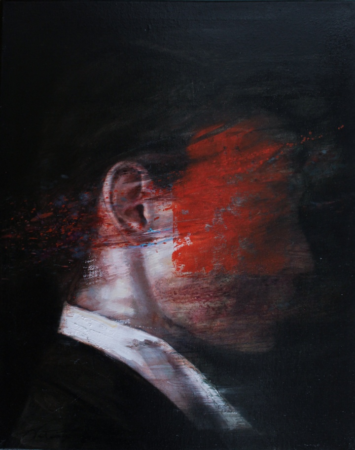 The Silence of the Whisper, oil on canvas, 50x40 cm